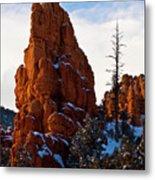 Red Canyon Sentinel Metal Print