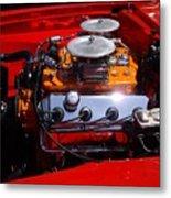 Red Car Engine  Metal Print