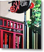 Red Cat Jazz Cafe Metal Print