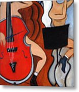 Red Cello 2 Metal Print