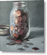 Red Cent Metal Print