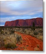 Red Center Dawn Metal Print