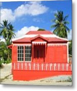 Red Chattel House Metal Print
