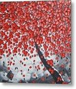 Red Cherry Tree Metal Print