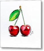 Red Cherry Metal Print