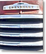 Red Chevrolet Grill Metal Print