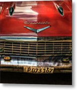 Red Chevrolet Metal Print