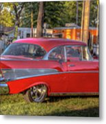 Red Chevy  Metal Print