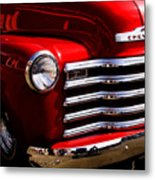 Red Chevy Truck Metal Print