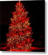 Red Christmas Tree Metal Print