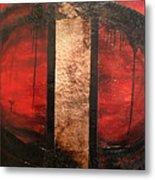 Red Circle Of Life Metal Print