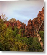 Red Cliffs Mountains Zion National Park Utah Usa Metal Print