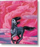 Red Cloud Horse Metal Print