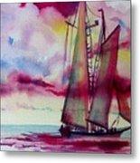 Red Cloud Sail Metal Print