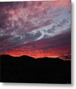 Red Cloud Sunset Metal Print
