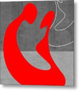 Red Couple Metal Print