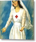 Red Cross Nurse - Ww1 Metal Print