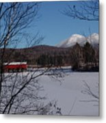 Red Dam And Percy Peaks In Winter Metal Print