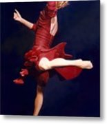 Red Dancer Back View Metal Print