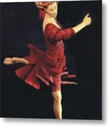 Red Dancer Front View Metal Print