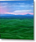Red Dawn Over The Palouse Metal Print