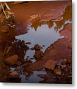 Red Desert Wash Metal Print