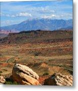 Red Desert With La Sal Mountains Metal Print