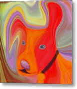 Red Dog Metal Print