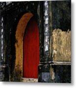 Red Doorway Metal Print