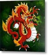 Red Dragon Metal Print