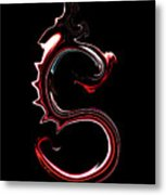 Red Dragon Serpent Named S Metal Print