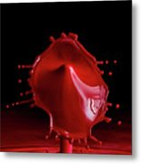 Red Drop Metal Print