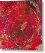 Red Energy Metal Print