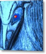 Red Eyed Raven Metal Print