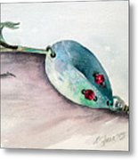 Red-eyed Wiggler Metal Print