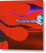 Red F-100 Metal Print