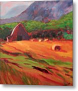 Red Farm Metal Print