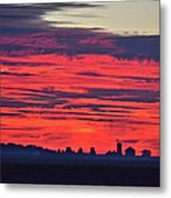 Red Farm Sunrise Metal Print