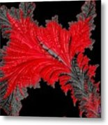 Red Feather - Abstract Metal Print