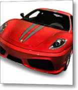 Red Ferrari F430 Scuderia Metal Print