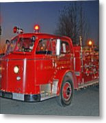 Red Firetruck Metal Print