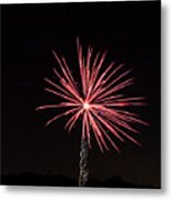 Red Fireworks Metal Print