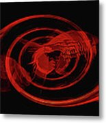 Red Fish Abstract Metal Print