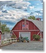Red Flag Barn Metal Print