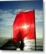 Red Flag Warning Sunrise 3 9/30 Metal Print