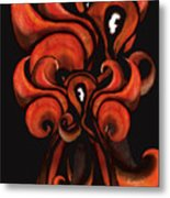 Red Flames Metal Print