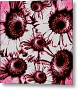 Red Floral  Metal Print