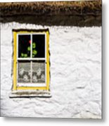 Red Flower Cottage Metal Print