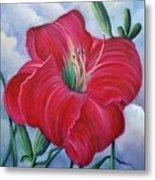 Red Flower Dreams Metal Print