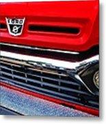 Red Ford Pickup Metal Print